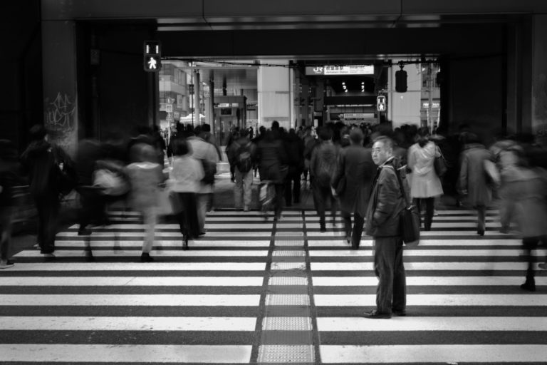 Japan street crossing photo