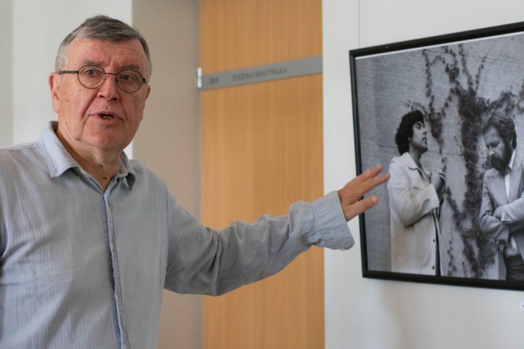 S. Povilaitis prisimena, kaip pirmąkart sutiko S. Eidrigevičių kartu su režisieriumi Sauliumi Varnu.