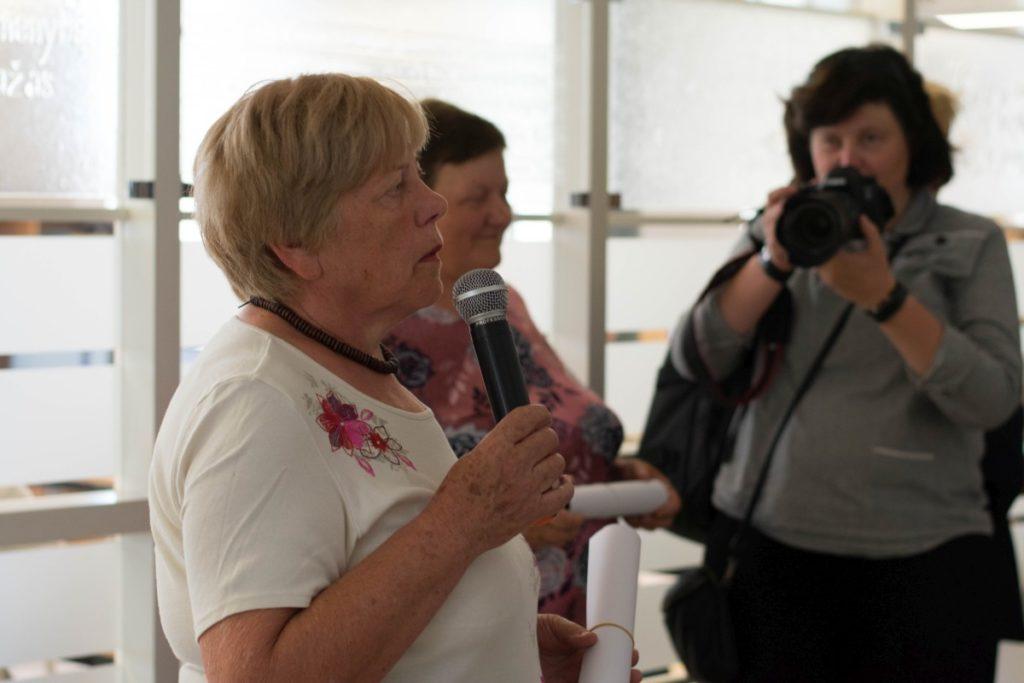 S. Eidrigevičiaus sesuo Apolonija dėkojo už įdomią parodą.