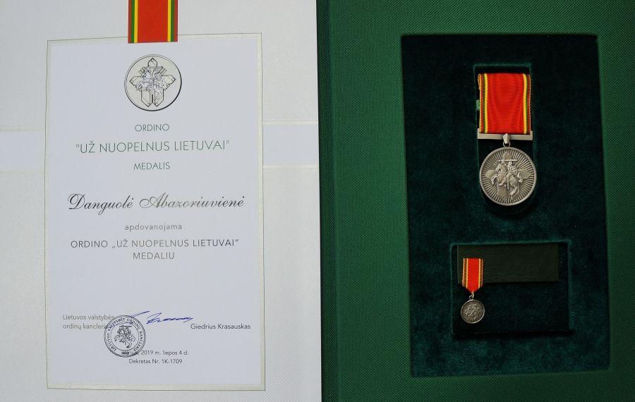 """Ordino """"Už nuopelnus Lietuvai"""" medalis"""