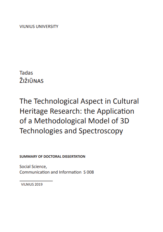 The technological aspect in cultural heritage research
