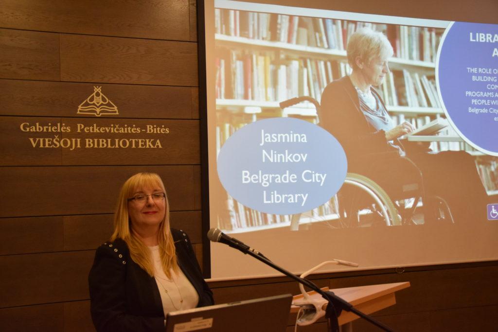 Serbijos Belgrado miesto bibliotekos direktorė J. Ninkov
