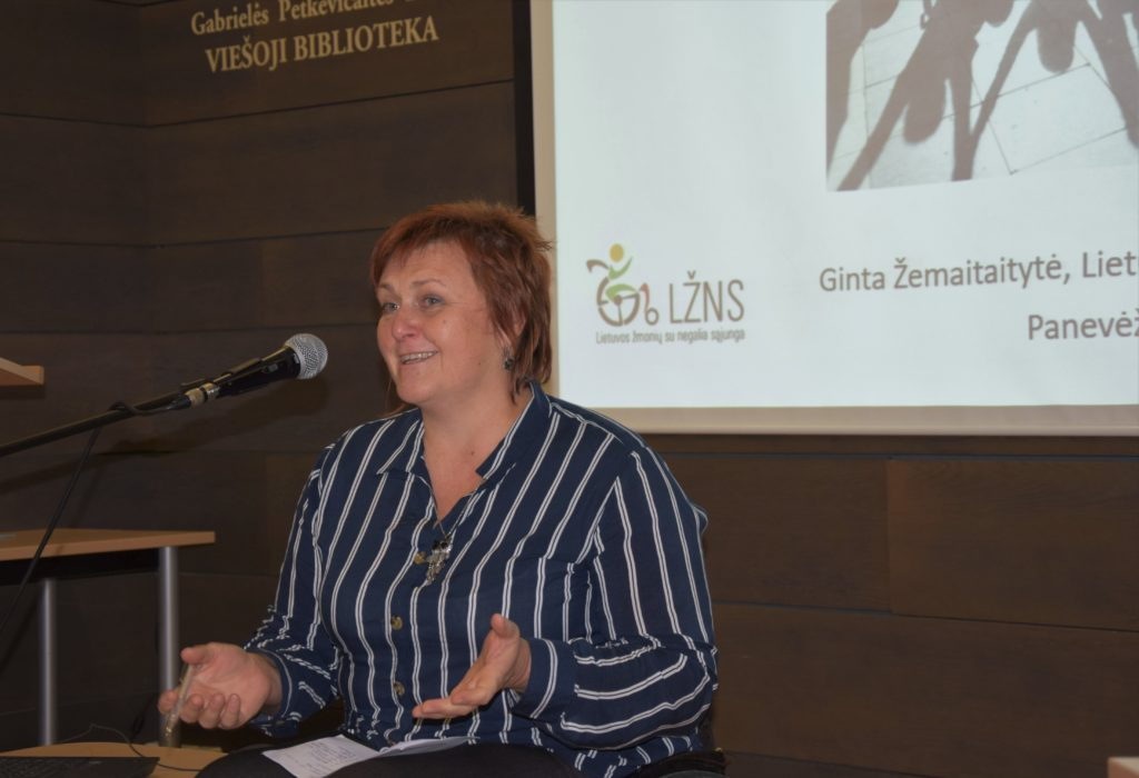 Lietuvos žmonių su negalia sąjungos projektų koordinatorė G. Žemaitaitytė
