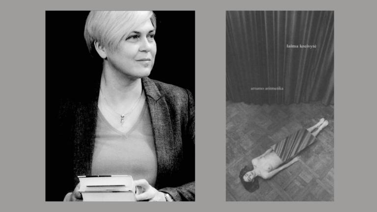 """Laima Kreivytė ir jos knygos """"Artumo aritmetika"""" viršelis"""