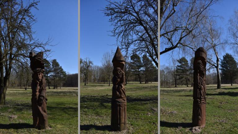 """Rūpintojėlių nuotraukos iš virtualios galerijos """"Skulptūros viešosiose Panevėžio erdvėse"""".  Nuotr. Astos Rimkūnienės"""
