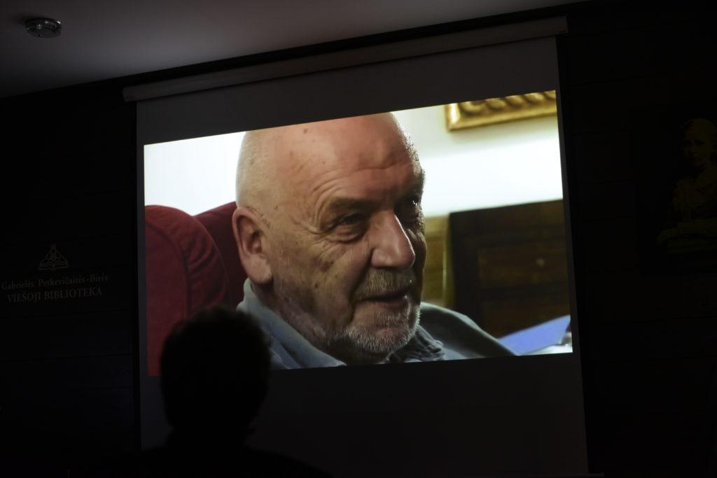 """Nuotr. iš susitikimo su Audroniu Liuga ir filmo """"Eimuntas Nekrošius. Tėvo kėdė"""" peržiūros"""