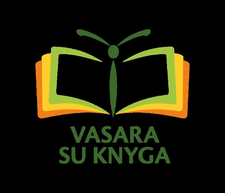 Vasara su knyga logotipas