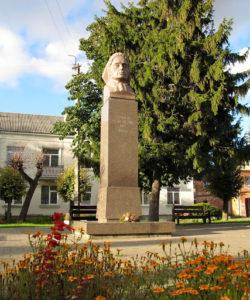 Antano Dimžlio skulptūrinis rašytojos biustas