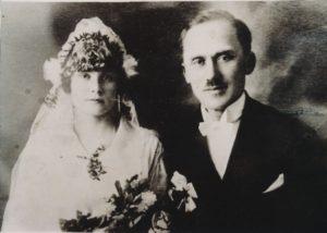 Anastazijos ir Stasio Balčų vestuvės. Apie 1920 m. PAVB F101-13