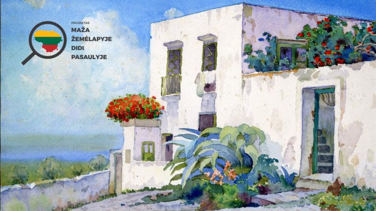 Jonas Mackevičius. Capri. Fragmentas. 1914-1929. Popierius, akvarelė. Nacionalinis M. K. Čiurlionio dailės muziejus