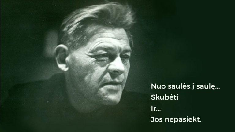 Paulius Širvys, viršelyje panaudota A. Sutkaus nuotr. iš Maironio lietuvių literatūros muziejaus archyvo.