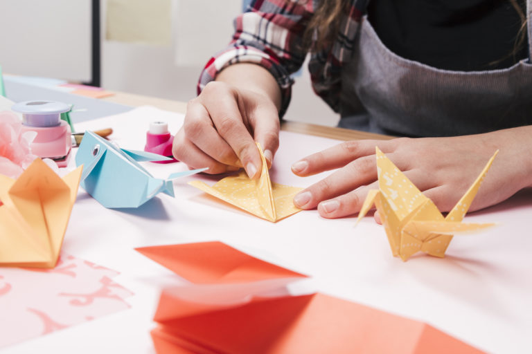 A persona folding paper crafts