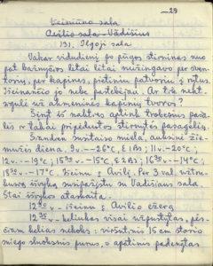 """Antano Kartano (Alfonsas Kadžius) """"Turizmas namie"""" rankraščio II dalis"""