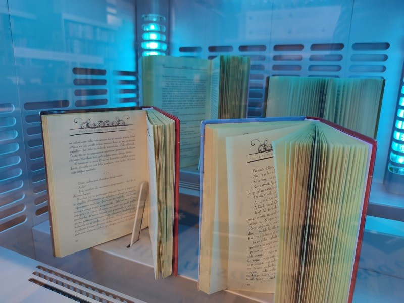 Partner Rijeka City Library promotes an innovation to ensure the hygiene of books