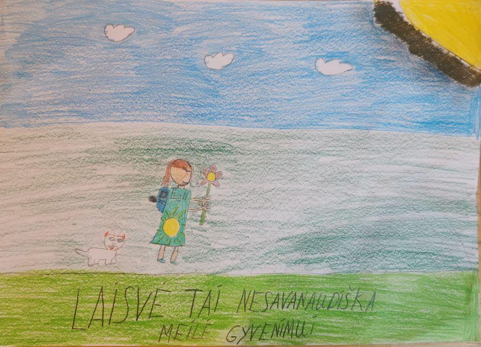 Laisvų vaikų knyga apie laisvę. Piešiniai.
