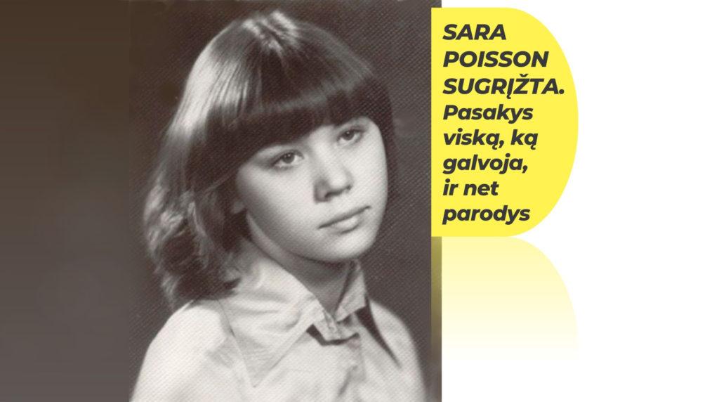 Kviečiame į susitikimą su rašytoja Sara Poisson