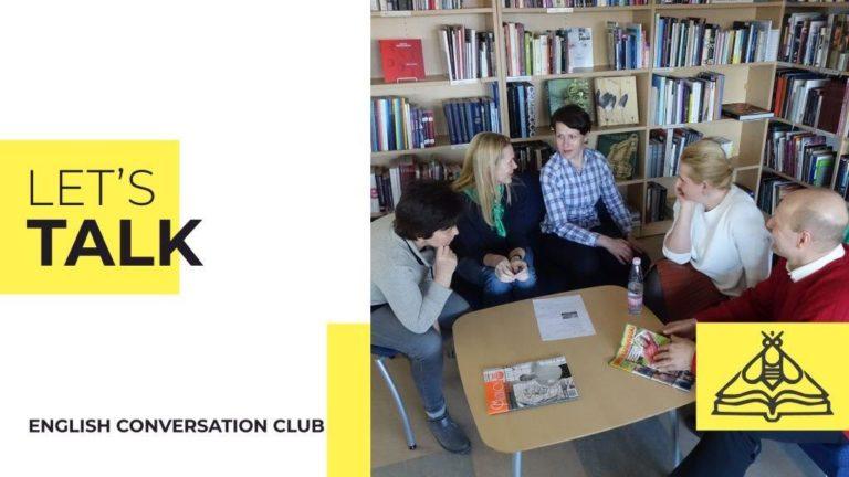 """Bibliotekoje vyksta anglų kalbos lavinimo klubo """"Let's Talk"""" veikla"""