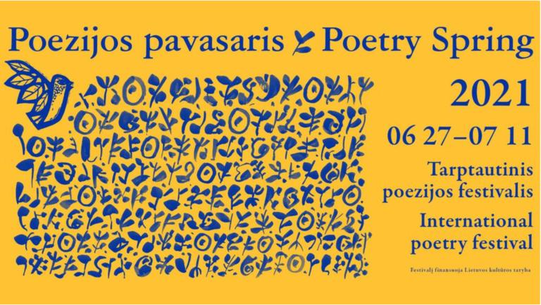 """Festivalio """"Poezijos pavasaris"""" plakatas"""
