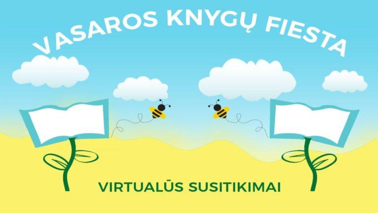 """Renginio """"Vasaros knygų fiesta"""" plakatas"""