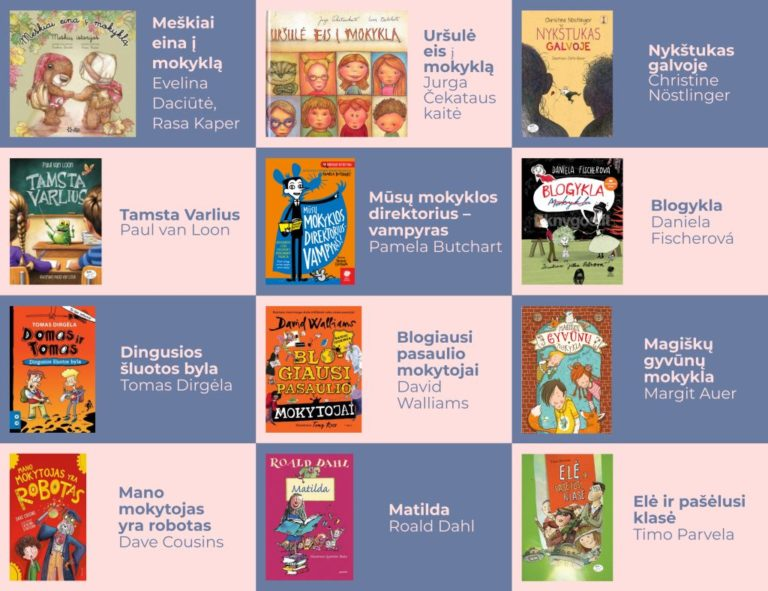 Knygų viršelių vaikams mozaika